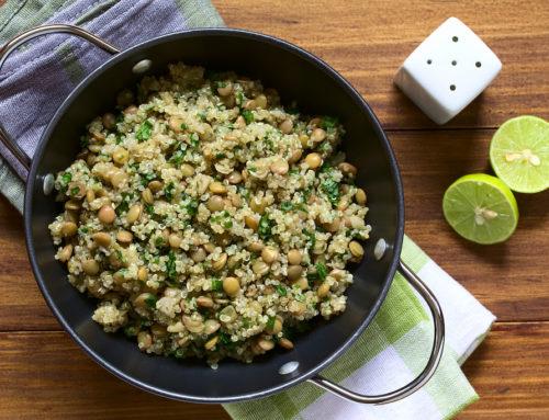 Quinoa, lentejas